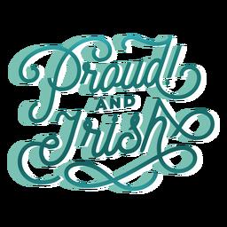 Letras orgullosas e irlandesas