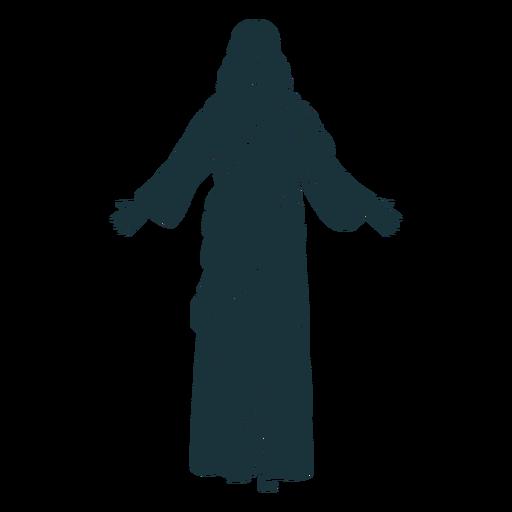 Silhouette schloss die Augen Jesus