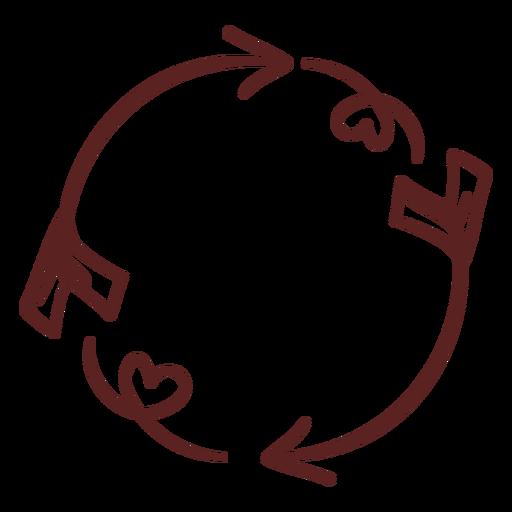 Simple hand drawn ornament stroke