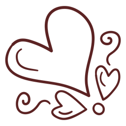 Simple heart hand drawn stroke