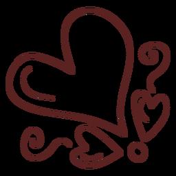 Trazo dibujado a mano corazón simple