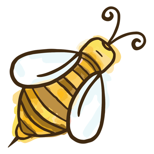 Simple honey bee Transparent PNG