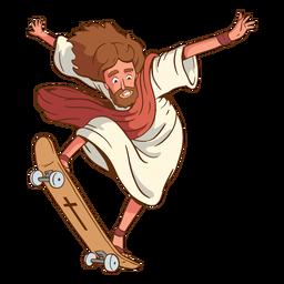 Skating jesus illustration