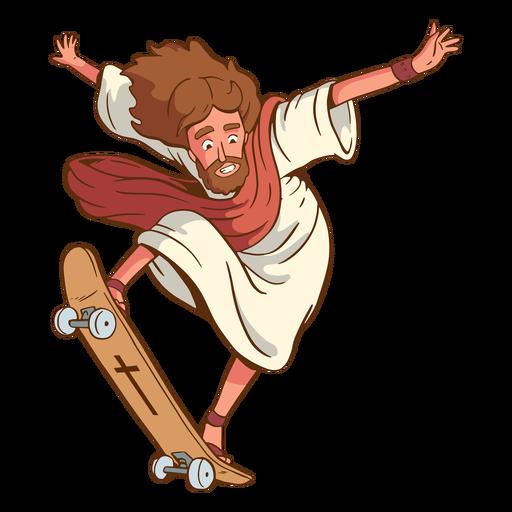 Ilustração de Jesus de patinação