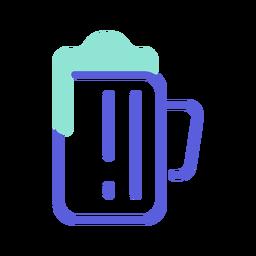 Icono colorido de cerveza de san patricio