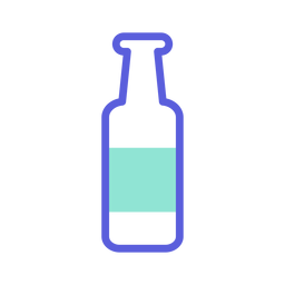 St patrick bottle colored icon