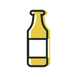 Beer bottle yellow icon