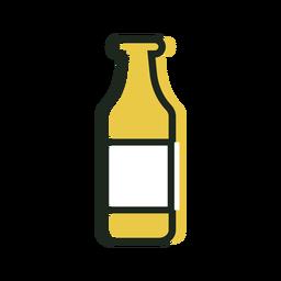 Botella de cerveza icono amarillo