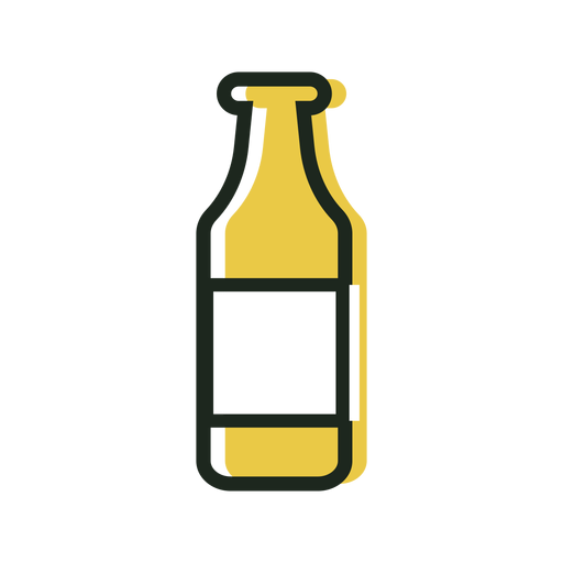 Beer bottle yellow icon Transparent PNG