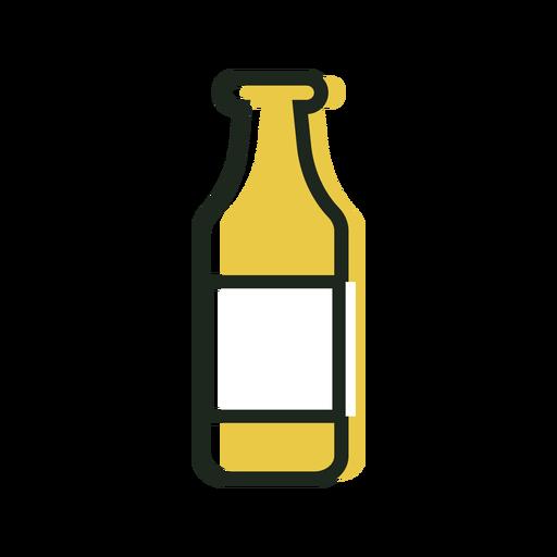 Beer bottle yellow icon