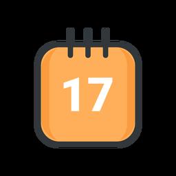Icono de trazo de calendario de san patricio