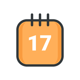 St patrick calendar stroke icon