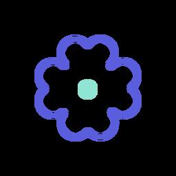 Icono colorido de flor de san patricio