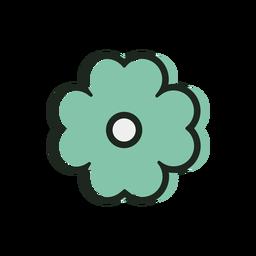 Icono de duotono de flor de san patricio