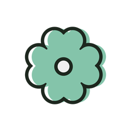 St patrick flower duotone icon