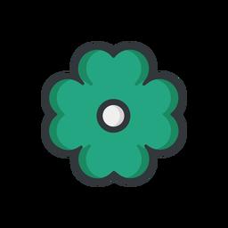 Icono de trazo de flor de san patricio