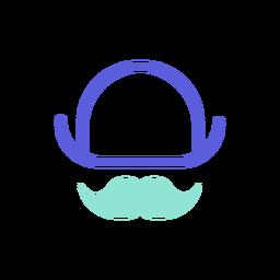 St patrick hat bigote colorido icono