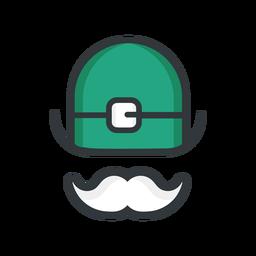 Icono de bigote de sombrero de san patricio