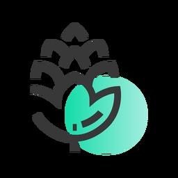 St patrick leaf icon