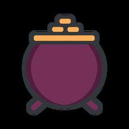 Icono de trazo de olla de San Patricio