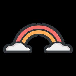 Icono de trazo azul del arco iris