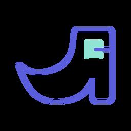 Icono colorido del zapato de san patricio