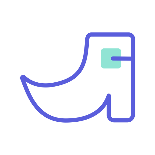 Icono colorido del zapato de san patricio Transparent PNG