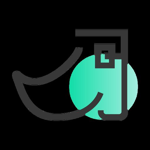 Icono de zapato de san patricio Transparent PNG