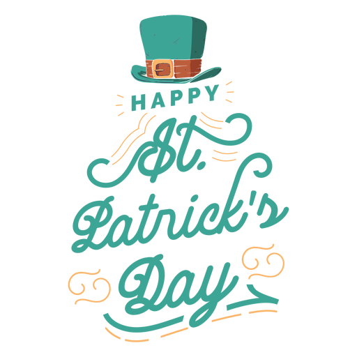 St patricks day lettering