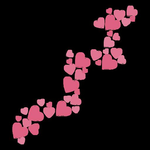 Valentines trailprint hearts Transparent PNG