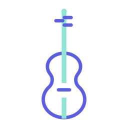 Violin colored icon