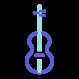 Violino ícone colorido