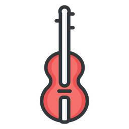 Violin stroke icon