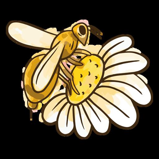 Flor de abelha em aquarela