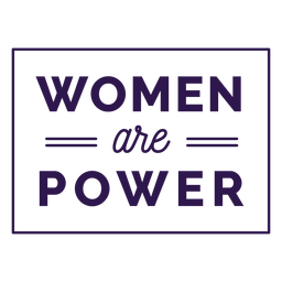 Women are power lettering