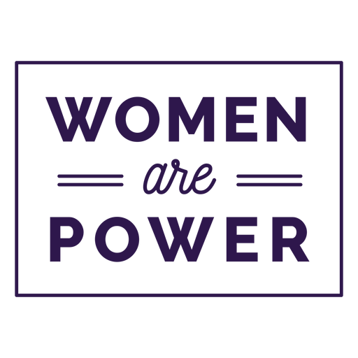 Women are power lettering