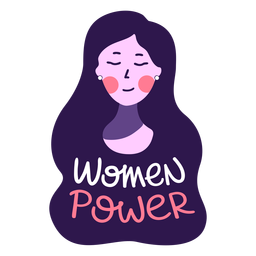 Women power lettering