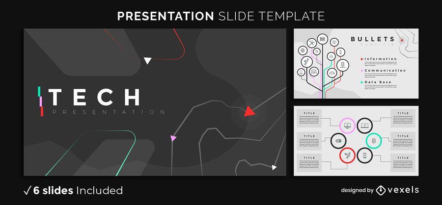 Plantilla de presentación de Dark Tech