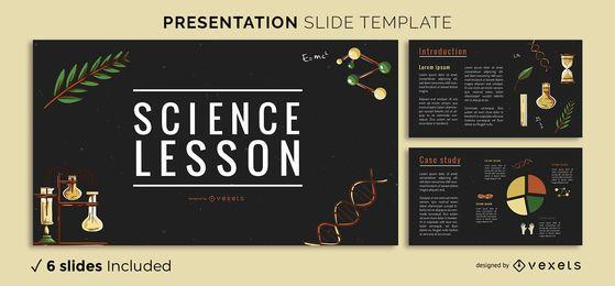Plantilla de presentación de ciencia vintage