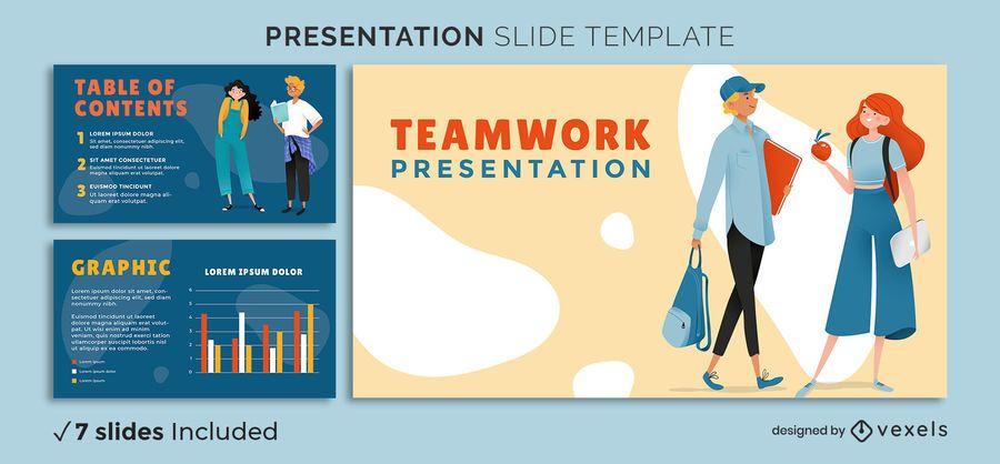 Plantilla de presentación de trabajo en equipo