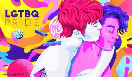 LGTBQ orgulho colorido design de fundo