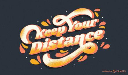 Mantenha seu design de letras à distância