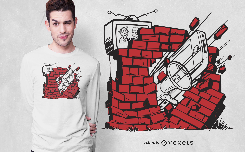 Design de camisetas da liberdade de express?o