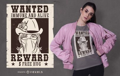 Diseño de camiseta Wanted Girl