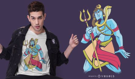 Design do t-shirt do senhor Shiva