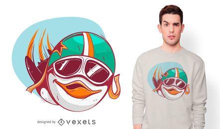 Projeto piloto do t-shirt do pinguim