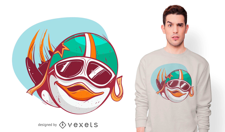 Design de camiseta do Penguin Pilot