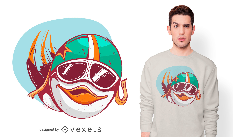 Dise?o de camiseta Penguin Pilot