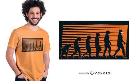 Design do t-shirt do coronavírus da evolução