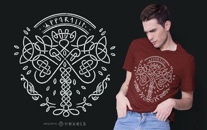 Projeto do t-shirt da árvore de Yggdrassil